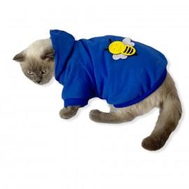 Athletique Bee Kapşonlu Sweat Kedi Süeteri kedi kıyafeti kedi Elbisesi