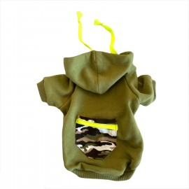 Athletique Green Camouflage Kapsonlu Sweatshirt Kedi Süeteri Kedi Kıyafeti