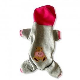 Bear Pink Grey Kedi Tulumu Kedi Kıyafeti