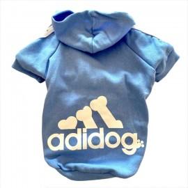 Bebek Mavisi Adidog Kapşonlu Kedi Sweatshirt Kedi Kazağı
