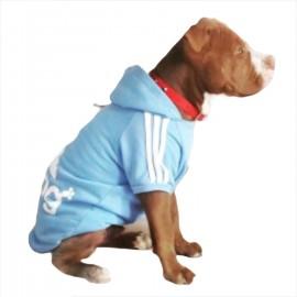 Adidog Baby Blue Hoodie Kapşonlu Sweatshirt Orta ve Büyük Irklar İçin