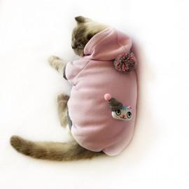 Bereli Kitty Kapsonlu Sweatshirt Kedi Süeteri Kedi Kıyafeti