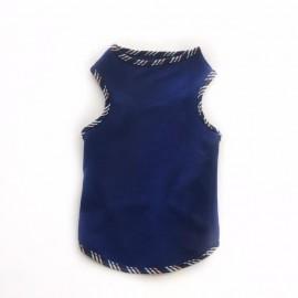 Biyeli Lacivert Atlet Köpek Kıyafeti  Köpek Elbisesi