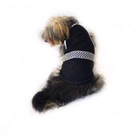 Black White Checker Atlet Köpek Kıyafeti  Köpek Elbisesi