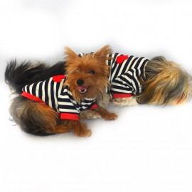 Red Hearts Oval Yaka Tişört Köpek Kıyafeti Köpek Elbisesi