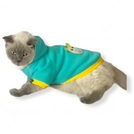 Blue Bear Kapşonlu Sweatshirt Kedi Süeteri Kedi Kıyafeti
