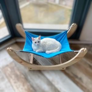 Blue KaTe Ahşap Kedi Hamağı , Kedi Yatağı, Kedi evi