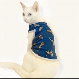 Blue Leo Atlet  by Kemique  Kedi Kıyafeti Kedi Elbise