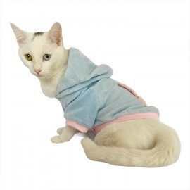 Blue Pink Bunny Sweatshirt Kedi Süeteri Kedi Kıyafeti