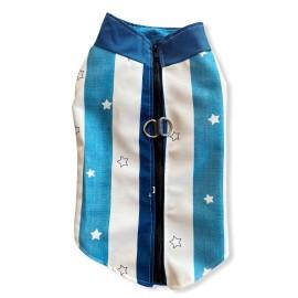Blue Stars Su itici Yağmurluk Köpek Yağmurluğu