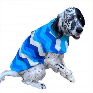 Blue Waves Su İtici Köpek Yağmurluğu , Orta ve Büyük ırklar için Yağmurluk