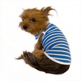 Blue White Stripe Atlet by Kemique  Köpek Kıyafeti Köpek Elbise