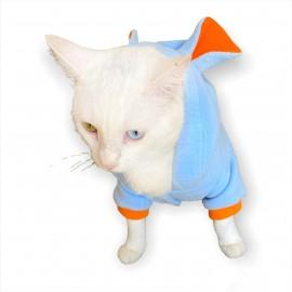 Bon Bunny Blue Kulaklı Kedi Tulumu,Kıyafeti
