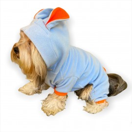 Bon Bunny Blue Kulaklı Köpek Tulumu Kıyafeti