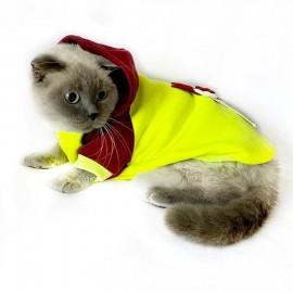 Bunny Bordo Fosfor Kapsonlu Sweatshirt Kedi Süeteri Kedi Kıyafeti