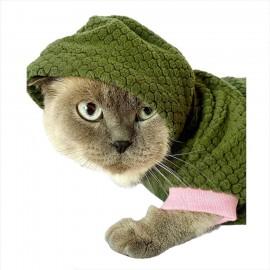 Bunny Pembe Dantelli Kapsonlu Sweatshirt Kedi Süeteri Kedi Kıyafeti
