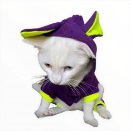 Bunny Pom Kulaklı Kedi Tulumu,Kıyafeti