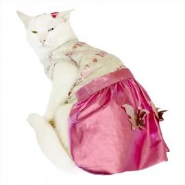 Butterfly Glitz Tütülü Kedi Elbisesi, Kedi Kıyafeti