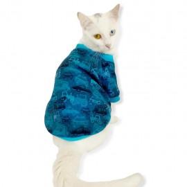 Carmania Oval Yaka Tişört Kedi Kıyafeti Kedi Elbisesi