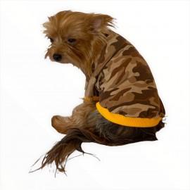 Askeri Oval Yaka Tişört Köpek Kıyafeti Köpek Elbisesi