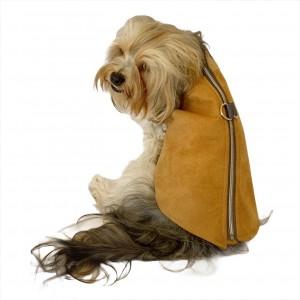 Chamois BB Kahverengi Köpekler için Güderi Görünümlü Ceket