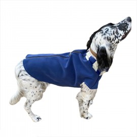 Chamois Blue Güderi Desenli Köpek Ceketi, Orta ve Büyük ırklar için