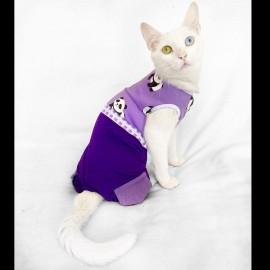 Chique Purple Panda Tulum Kedi Kıyafeti