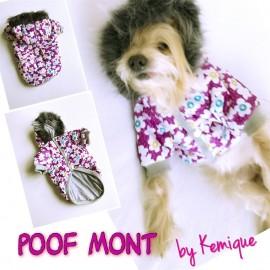 ÇİÇEKLİ POOF MONT GIRLY by Kemique  Köpek Montu