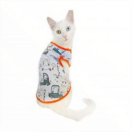 Clouds And Cars  ATLET  by Kemique  Kedi Kıyafeti - Kedi Elbisesi