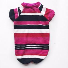 Colour Pink Stripe Tişört Orta ve Büyük Irklar İçin