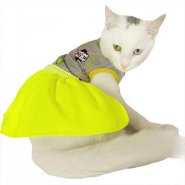 Cute Miki Yellow Kedi Elbisesi Kedi Kıyafeti