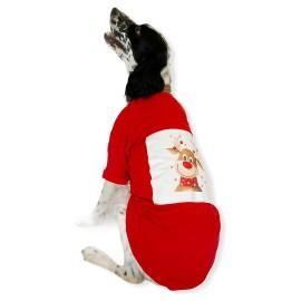 Cute Rudolph Tişört Büyük Irk Köpekler İçin