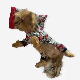 Dark Mickey Penye Tulum Yastık Takım Uyku Set  Köpek Tulumu  Köpek Elbisesi