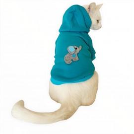 Filli Mavi Sweatshirt Kedi Süeteri Kedi Kıyafeti
