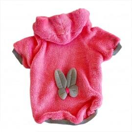 Fluffy Pink Bunny Kapsonlu Sweatshirt Kedi Süeteri Kedi Kıyafeti