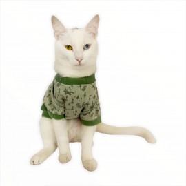 Fox Forest Oval Yaka Tişört Kedi Kıyafeti Kedi Elbisesi