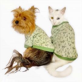 Fox Forest  Oval Yaka Tişört Köpek Kıyafeti Köpek Elbisesi
