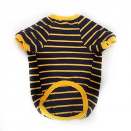 Black Yellow Stripe Oval Yaka Tişört Kedi Kıyafeti Kedi Elbisesi