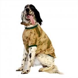 Green Camouflage Tişört Büyük Köpekler İçin