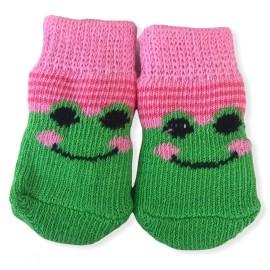 Green Pink Smile Köpek Çorabı
