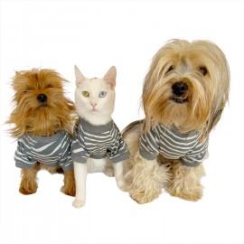 Grey Mist Oval Yaka Tişört Köpek Kıyafeti Köpek Elbisesi