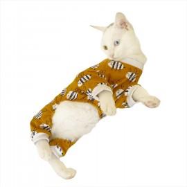 Karınca Desenli Penye Tulum Kedi Tulumu Kedi Elbisesi