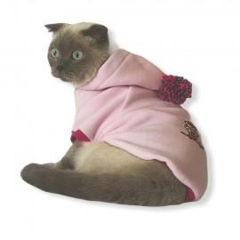 Kay Kay Pink Kapsonlu Sweatshirt Kedi Süeteri Kedi Kıyafeti