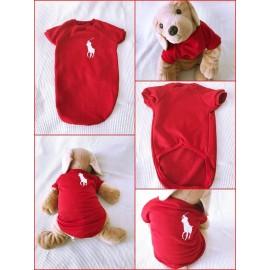 Kırmızı Polo Swearshirt Orta ve Büyük Irklar İçin