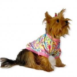 Kitty Oval Yaka Tişört Köpek Kıyafeti Köpek Elbisesi