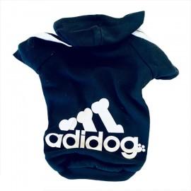 Koyu Lacivert Adidog Kapşonlu Köpek Sweatshirt Köpek Kazağı