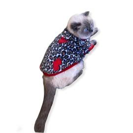 Leopar Hearts Kedi Süeteri Kedi Kıyafeti