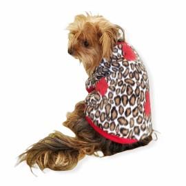 Leopar Hearts Sweat Köpek Kıyafeti