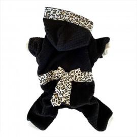 Leopar Siyah Kedi Tulumu Kedi Kıyafeti