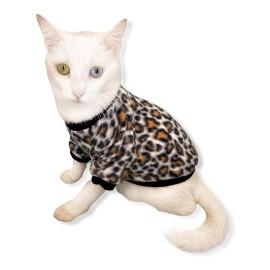 Leopar Softie Kedi Süeteri Kedi Kıyafeti